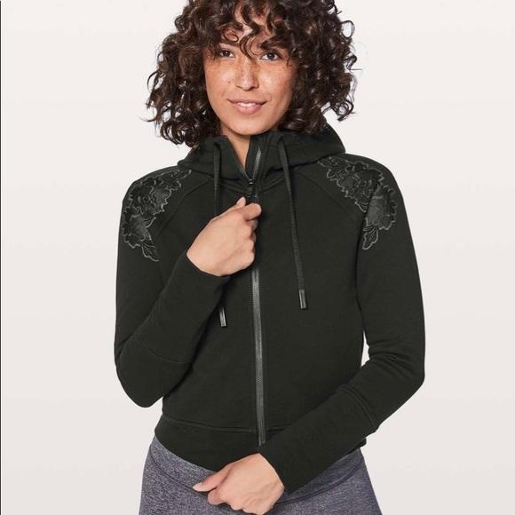 Lululemon cropped zip up hoodie